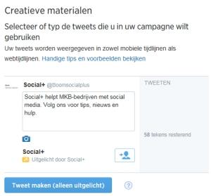 Twitter ads tweet maken