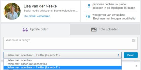 LinkedIn op Twitter